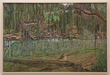 Trees on the lake bank